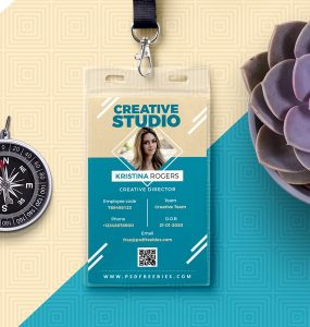 Photo ID Card Free PSD