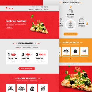 Pizza Website Template Free PSD