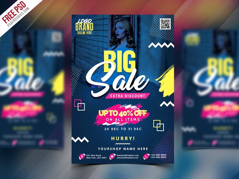 Sale Flyer Template PSD Download Download PSD - Sales flyer template photoshop