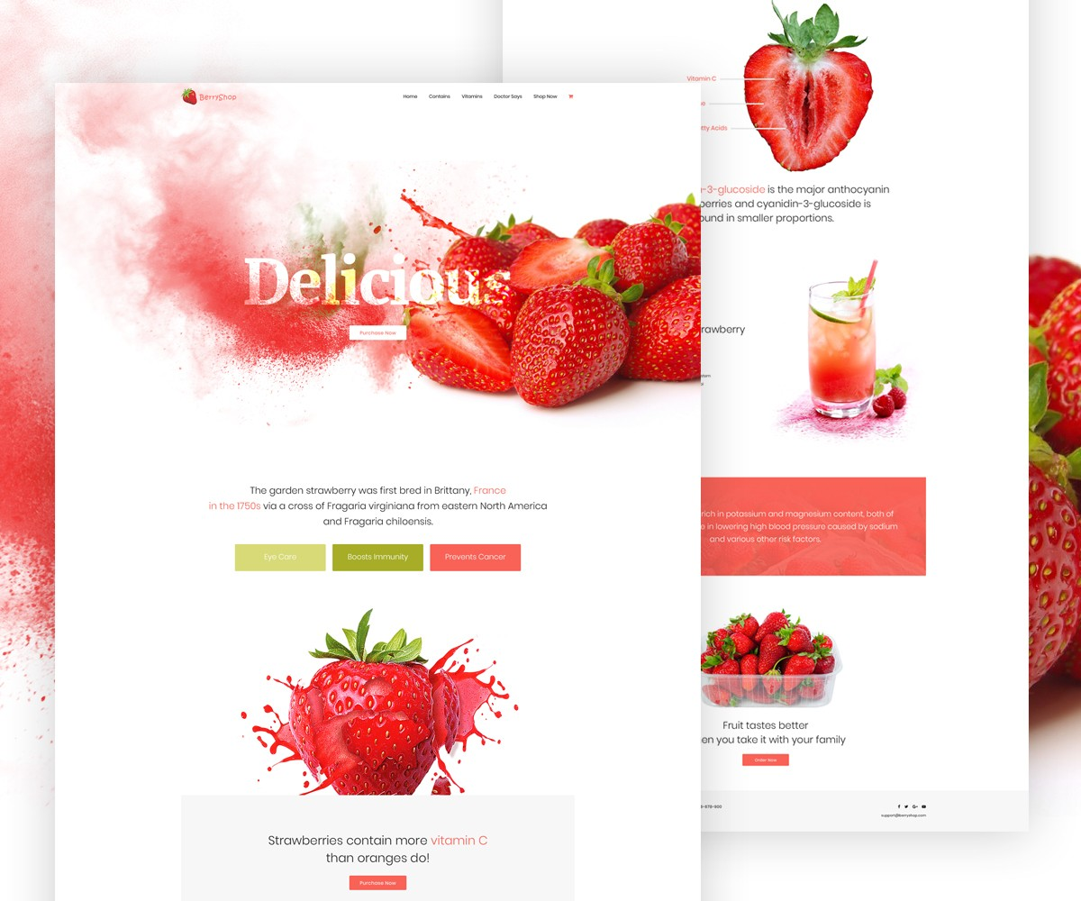 Single Product Website Template Free PSD Download Download PSD - Single product ecommerce template