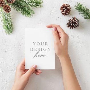 Free Christmas Card Mockup PSD