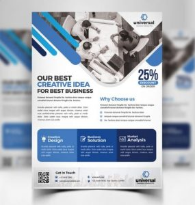 Corporate Business Flyer Template PSD