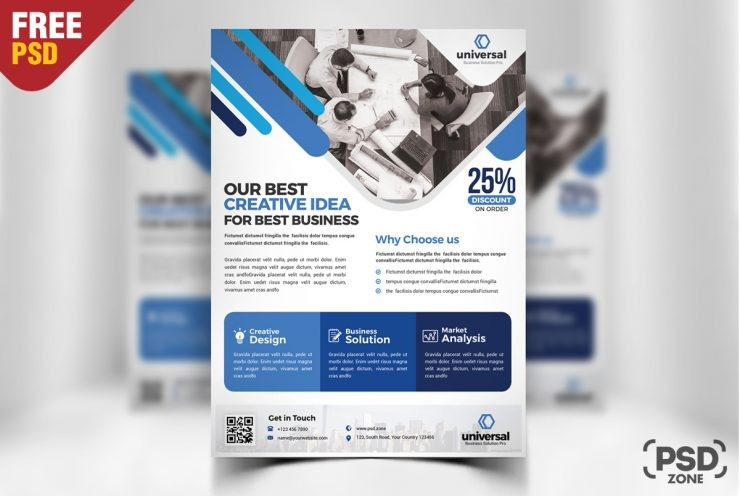 Corporate business flyer template psd download download psd for Brochure template psd free download