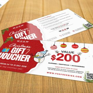 Free Christmas Gift Voucher PSD