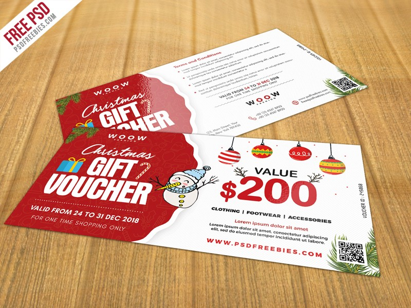 Free Christmas Gift Voucher Psd Download Download Psd