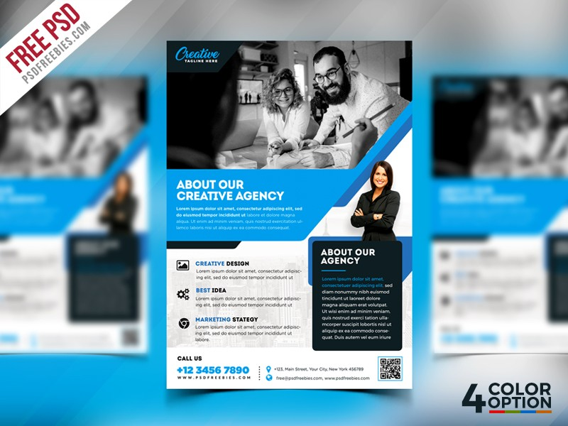 Free Corporate Flyer Template Psd Download Download Psd