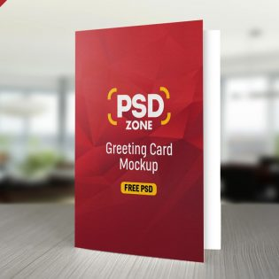 Free Greeting Card Mockup PSD