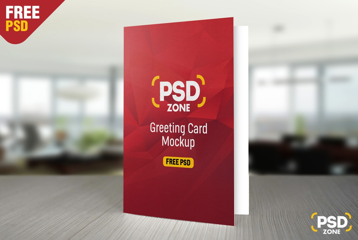 Free greeting card mockup psd download download psd for Christmas card psd