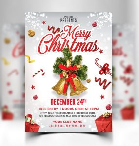 Free Merry Christmas Flyer Template PSD