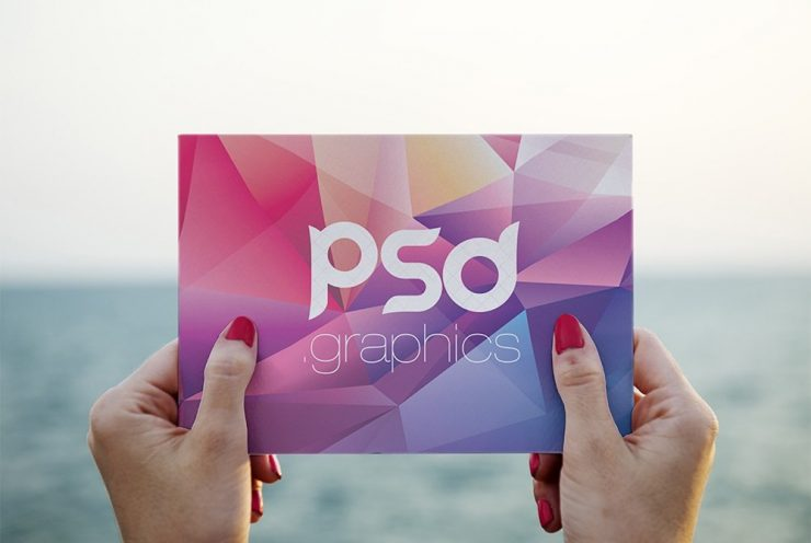 Free Photo Postcard Mockup PSD
