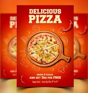 Free Pizza Flyer Poster Template PSD