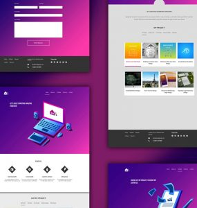 Free Portfolio Website Templates PSD
