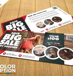 Free Sale Voucher Template PSD