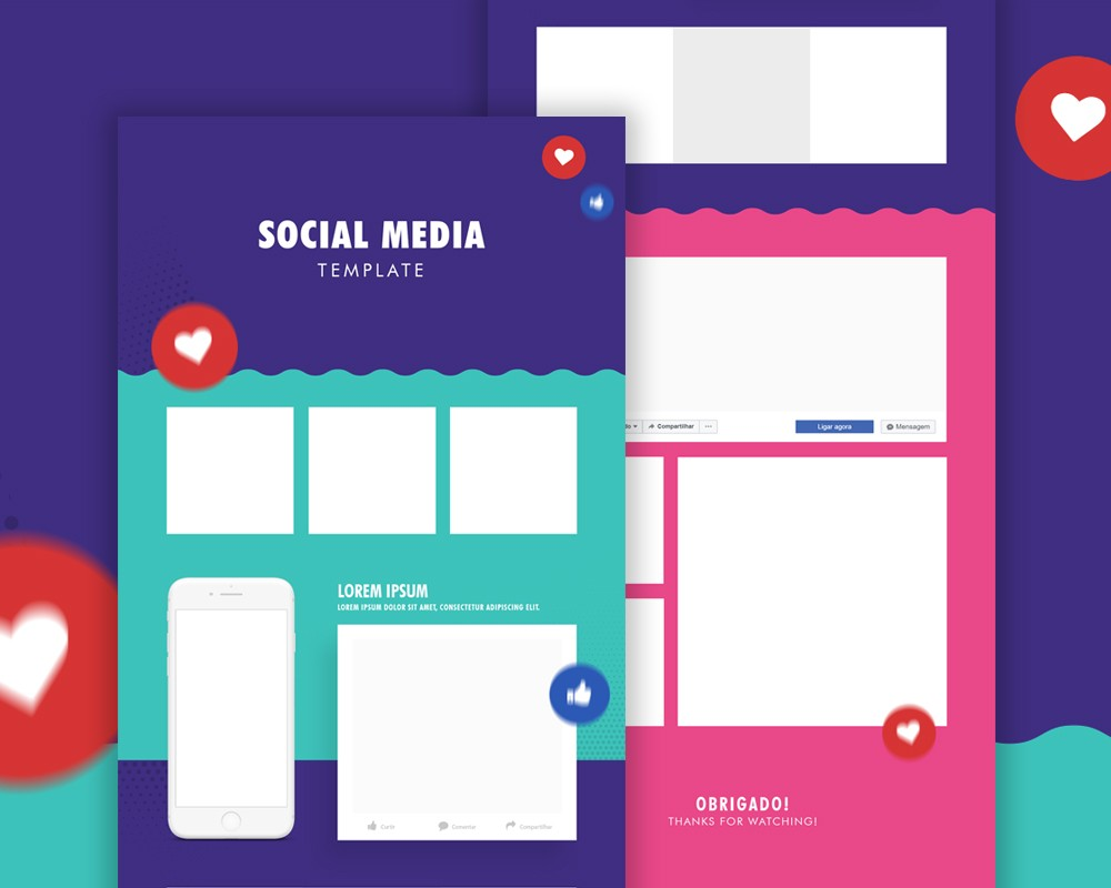Free Social Media Post Template PSD Download Download PSD - Social media post template