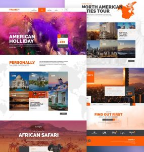 Free Travel Agency Website Template PSD