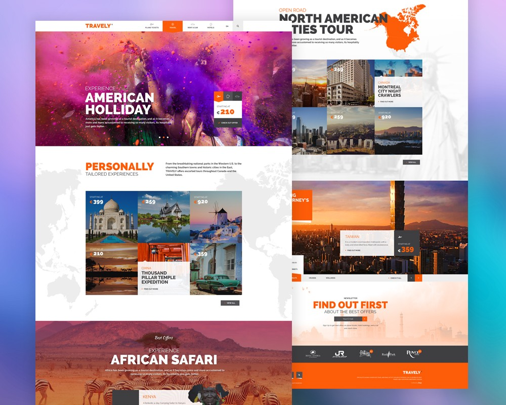 Free travel agency website template psd download download psd free travel agency website template psd website template website layout website webpage pronofoot35fo Image collections