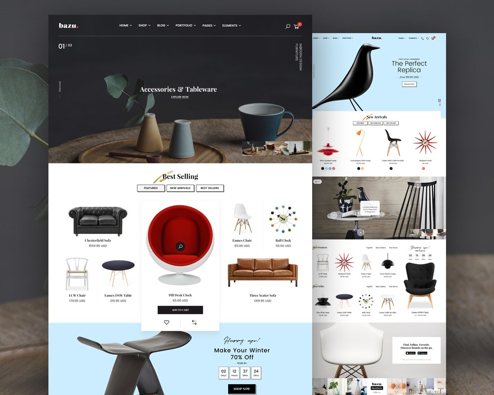furniture store web templates psd download download psd. Black Bedroom Furniture Sets. Home Design Ideas