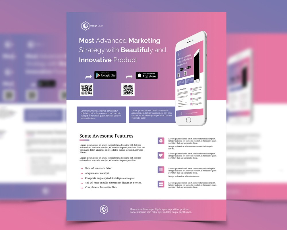 Marketing Flyer Template Free PSD