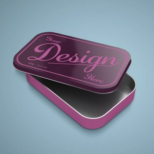 Free Tin Box Mockup PSD