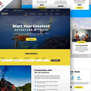 Tour and Travel Booking Website Template PSD