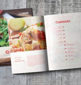 Cookbook Template Free PSD