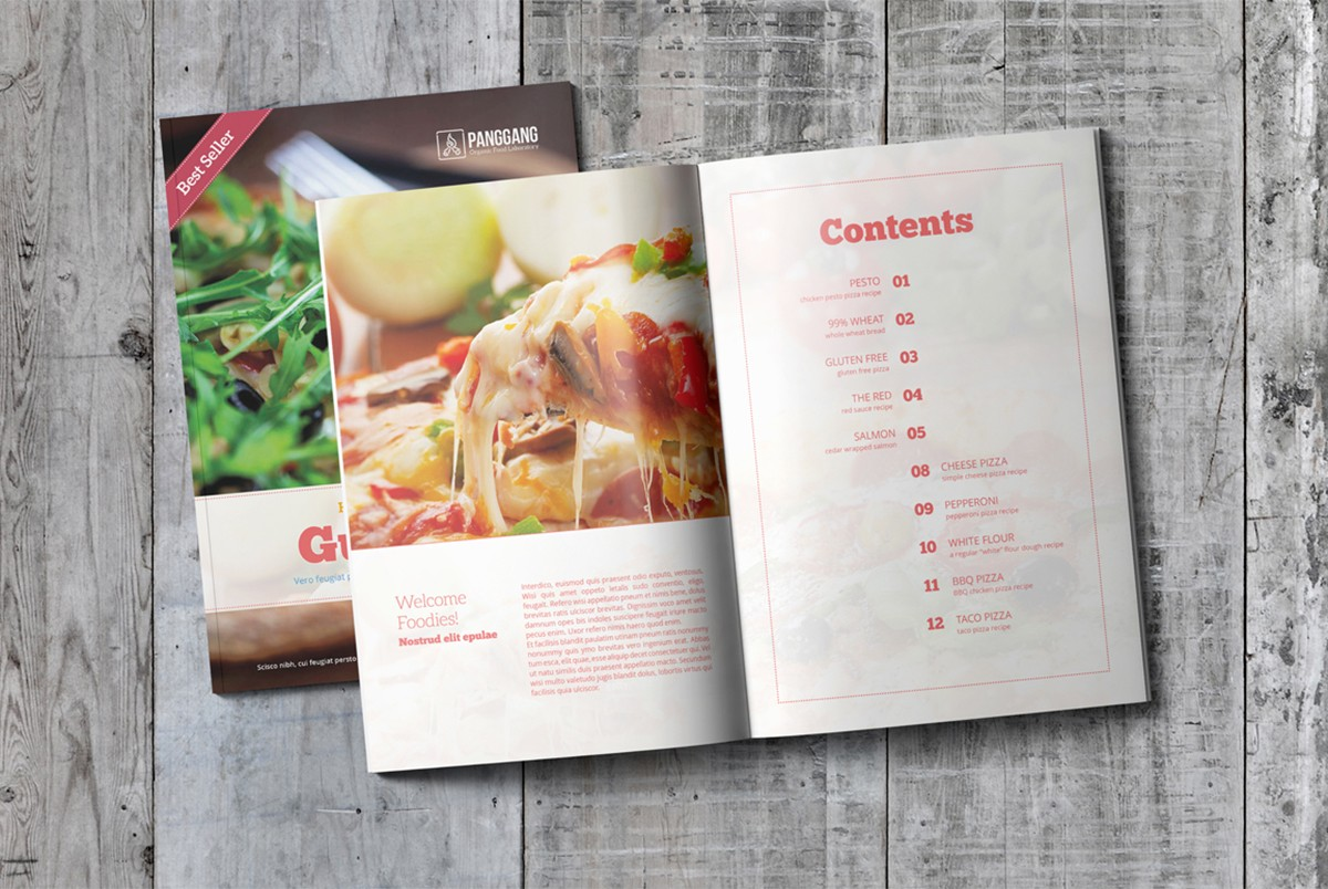 Cookbook template free psd download download psd for Free online cookbook template