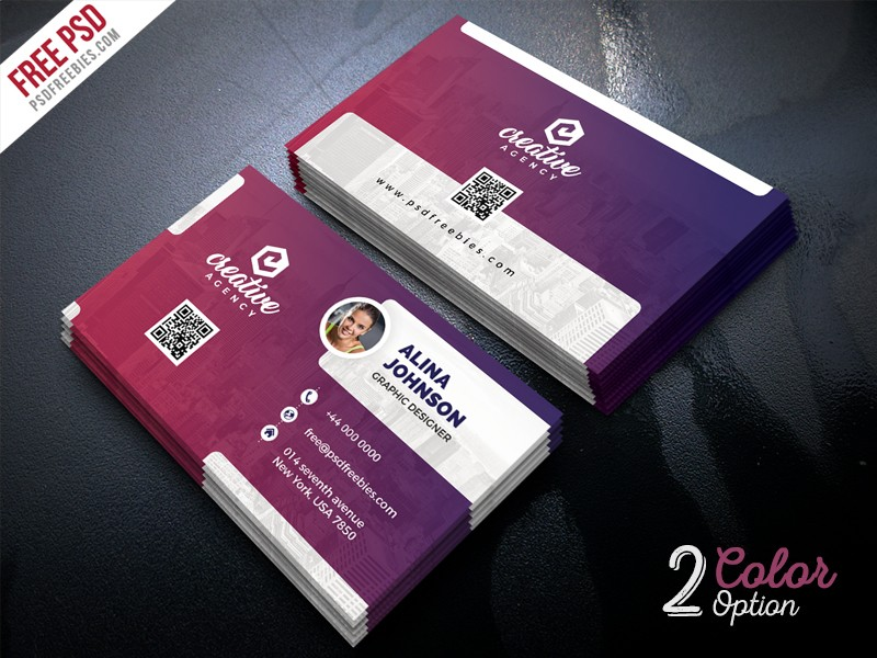 Creative business card template psd download download psd creative business card template psd flashek Image collections