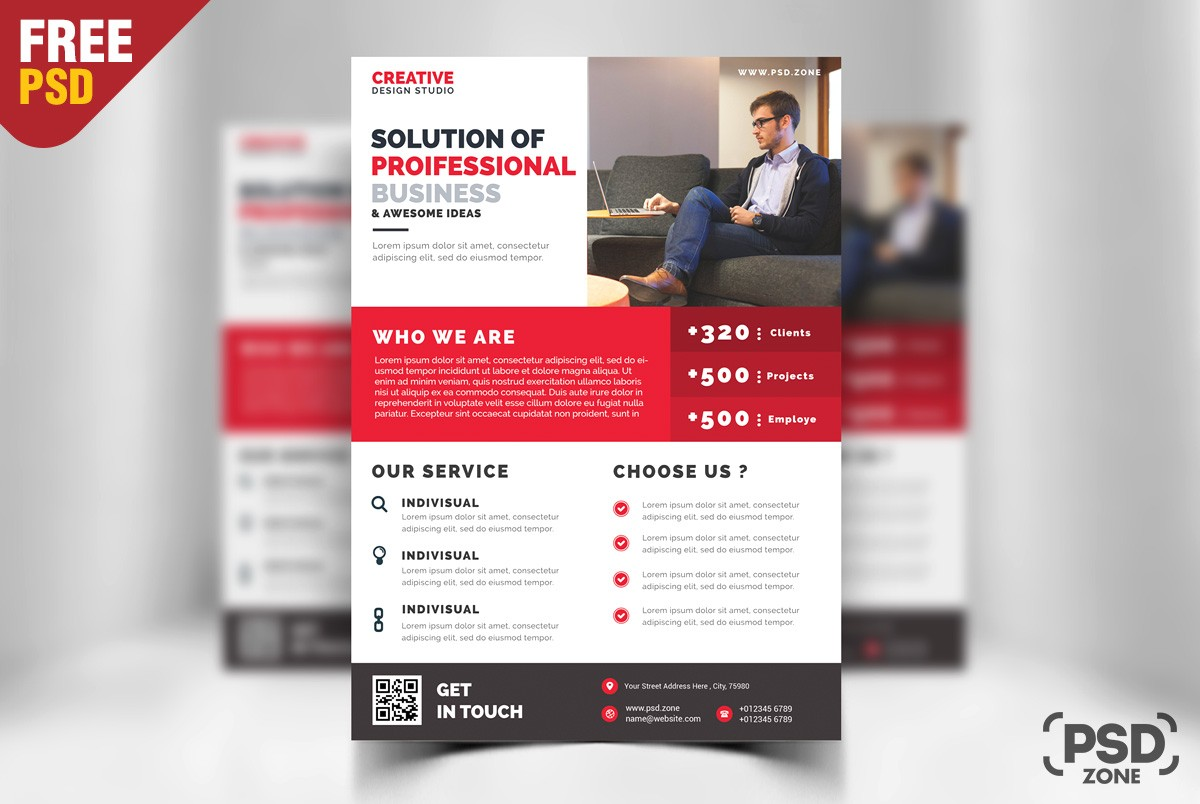Free Business Promotion Flyer Template PSD Technology, Stylish Flyer,  Studio, Smooth Flyer,