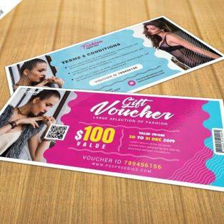 Free Gift Voucher Template PSD