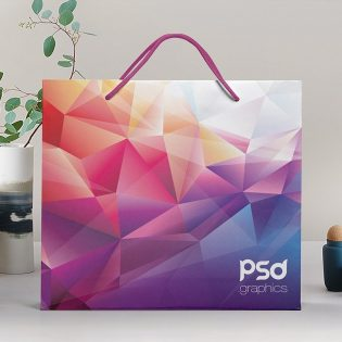 Free Shopping Paper Bag Mockup PSD