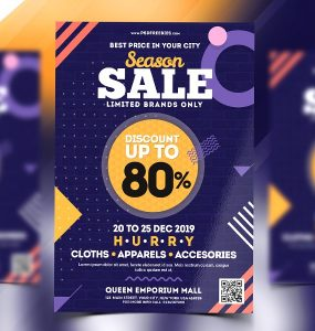 Holiday Season Sale Flyer Template PSD