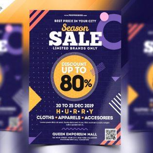 Holiday Season Sale Flyer Template PSD