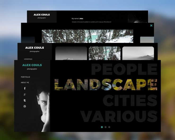 Photography Portfolio Website PSD Templates
