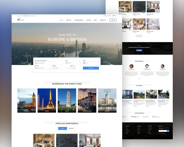 Real Estate Website Template PSD