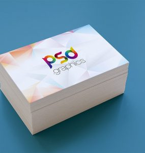 Business Card Stack Mockup Template