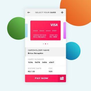 Credit Card Payment App UI PSD