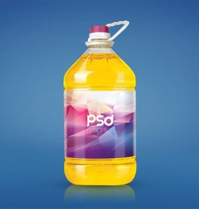 Free Cooking Oil Bottle Mockup PSD