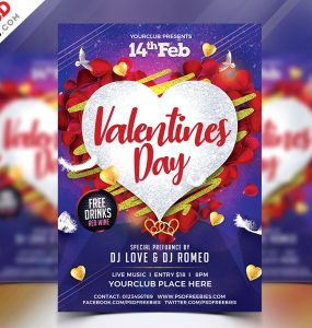 Free Valentines Day Flyer PSD