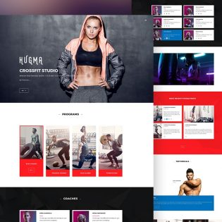 Gym Website Template PSD
