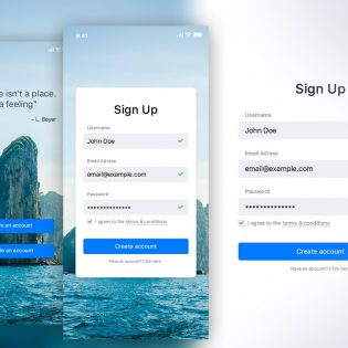 Sign Up UI Kit PSD