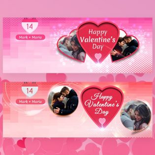 Valentine Facebook Covers Template PSD