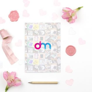 Valentines Day Greeting Card Mockup PSD