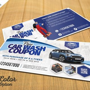 Automobile Coupon Voucher Template PSD