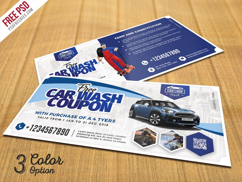 Automobile coupon voucher template psd download psd for Car wash coupon template