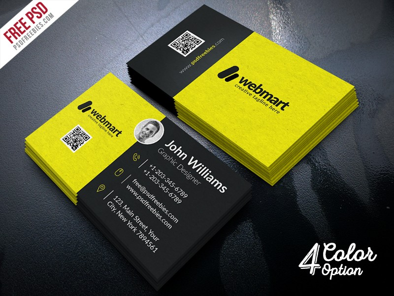 Business card free psd download download psd for Business card psd free download