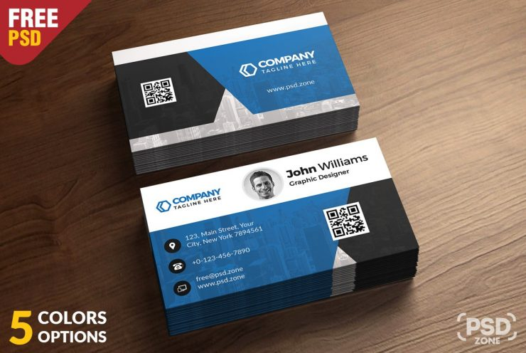 Corporate Business Card Free PSD Template
