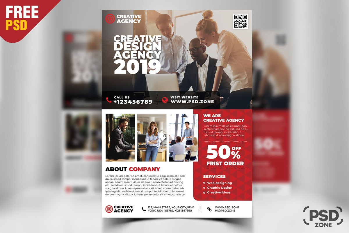 corporate business flyer template design psd