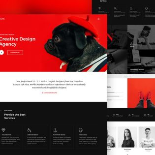 Creative Design Agency Website Template