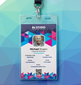 Download free student id card psd download psd for Teacher id card template