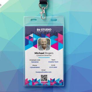 Creative Office ID Card Free PSD